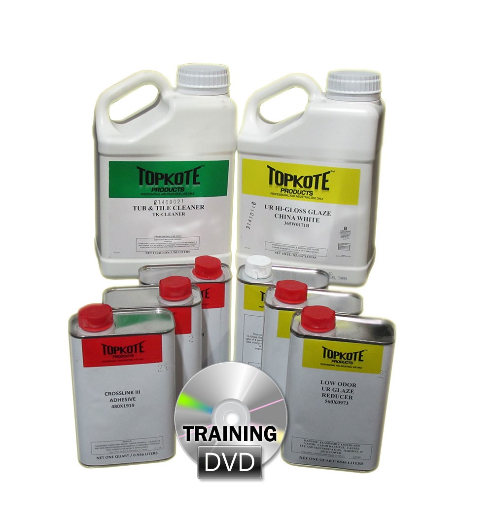 Tub & Tile Reglazing Start-Up Kit with Training DVD