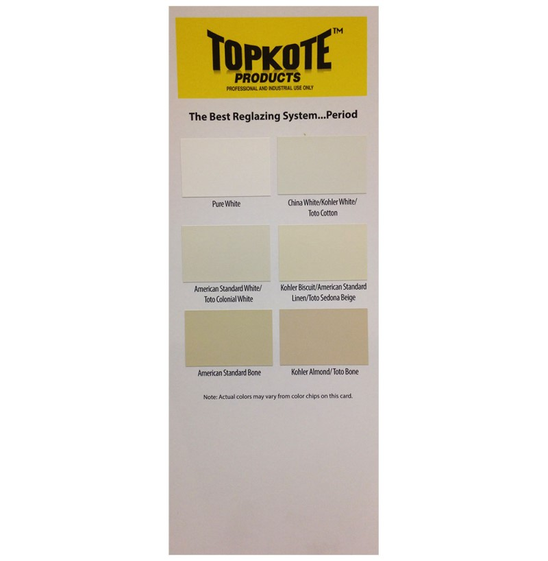 Refinishing Paint Sample Color Card - Topkote Products
