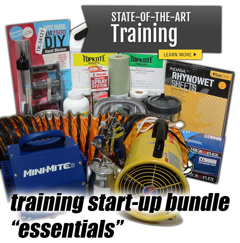 bathtub and tile refinishing training bundle