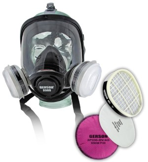 Gerson One Size Fits All Full Face Respirator Kit