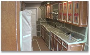 Masking the Kitchen Cabinets