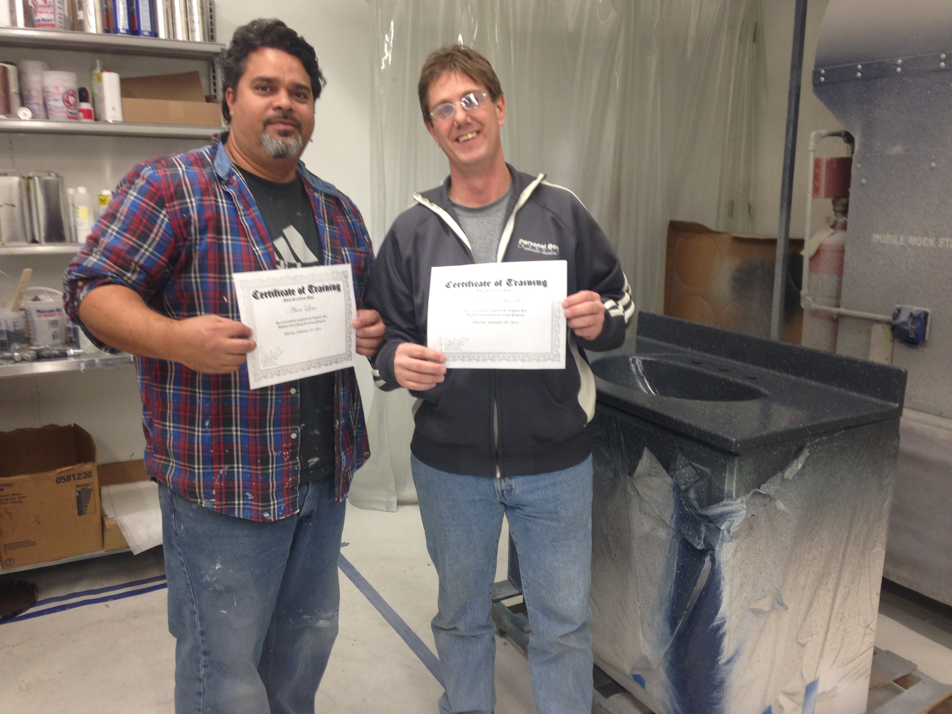 Topkote trainees finishing refinishing training